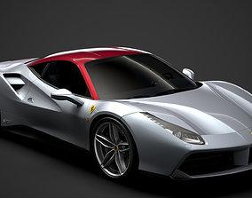 Ferrari 488 GTB The Shah 2018 3D model