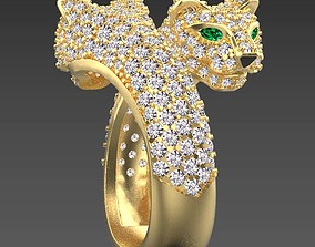 panther ring jewelry cartier 3D printable model