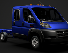 3D Ram Promaster Cargo Chassis Truck Crew Cab 3450 WB 2019