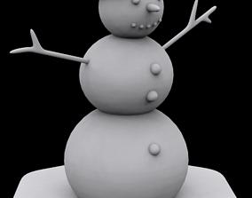 Snowman christmas-tree 3D print model