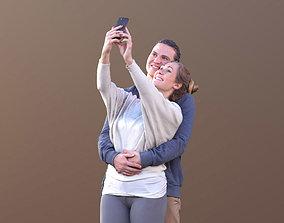 Marcel Rocio 10582 - Selfie Casual Couple 3D asset
