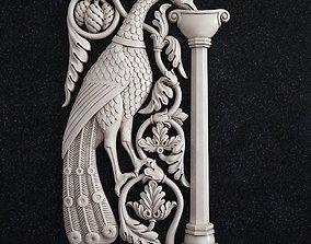 3D printable model Decor bird peacock baroque