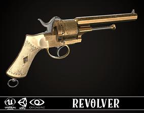 3D model LEFAUCHEUX - Vintage Revolver Brass