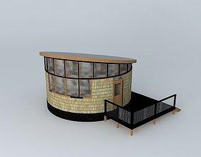 Round House Cabin 3D