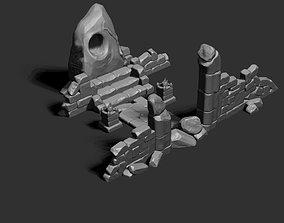 3D print model Lost magical Rain Fountain Ruins