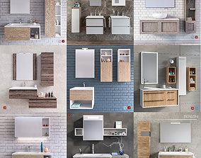 A collection of furniture for the bathroom 1 3D