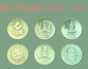 3D Thailand coin - set model - 2