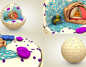 3D Animal Cell microscope
