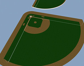 Baseball stadium tower 3D model