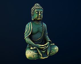 3D model low-poly Buddha statue