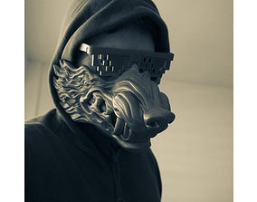 Wolf mask high quality for print