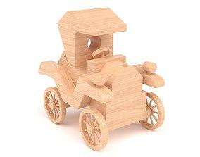 3D model Wooden toy car 34