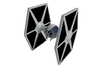 3D model STAR WARS TIE fighter