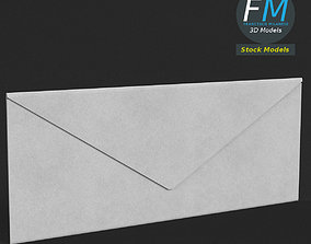 3D asset Rectangular envelope closed