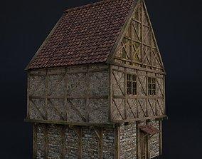 3D model OLD MEDIEVAL BUILDING 04