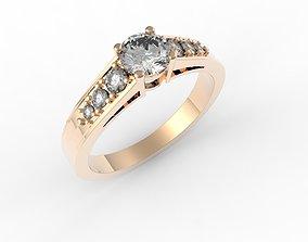 engagement ring half carat 3D printable model