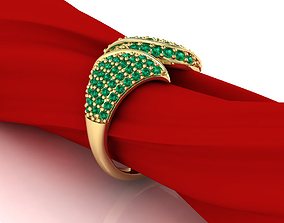 Leaf shape ring 3D printable model