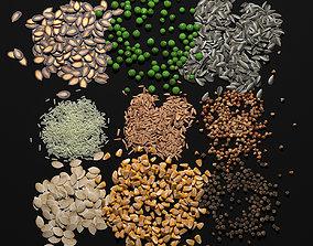 3D model food Seeds