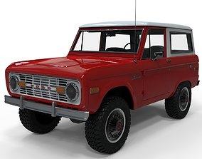 3D asset game-ready Ford Bronco 1975