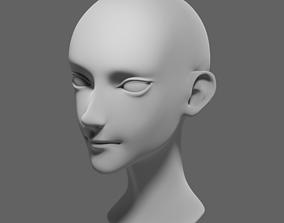 3D model Stylized head 2