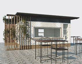 Small cafe 3D asset