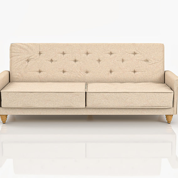 Sofa Bed Lise beige fabric