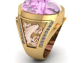 480 Lucky Golden Fish Men Ring 3D print model