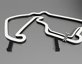 3D print model F1 Silverstone Race Track STL File 2