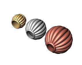 3D print model Corrugated Lantern Bead Balls and Charms