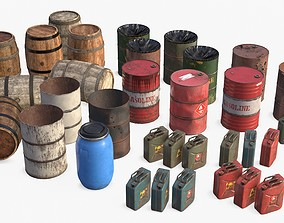 3D PBR Liquid Containers Collection