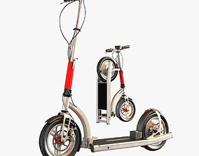 3D Electric scooter vehicle