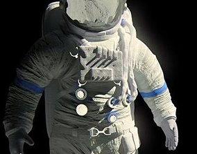 3D Astronaut moon