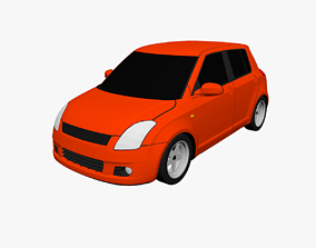3D model low-poly Low Poly Car cars