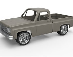 Diecast shell and wheels 1978 Chevrolet 3D print model 4