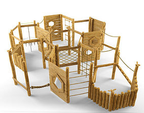 3D model Wooden playgound 2