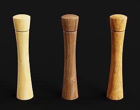 Wooden pepper mills 3D model