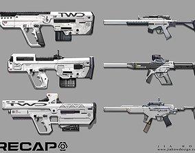 3D model more gun anims
