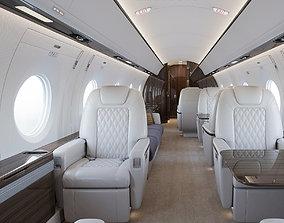 Gulfstream privat jet interior 3D