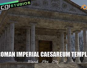 Roman Imperial Caesareum Temple Of Worship 3D