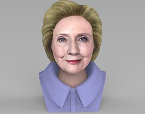 Hillary Clinton bust ready for full color 3D
