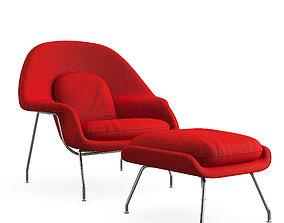 3D asset Womb Chair