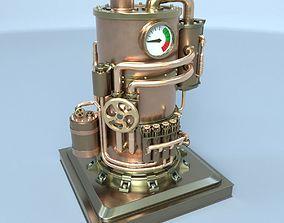 Steampunk boiler 02 3D asset