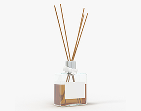 3D model Air refresher bottle with sticks 01