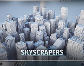 C1 - Skyscrapers - 22 MODELS low-poly