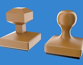 Rubber stamp 3D asset