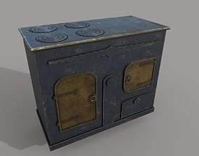 3D asset Old Stove