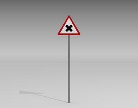 3D model Road junction