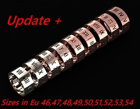3D printable model rings Tiffany Atlas Wide Ring