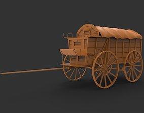 wagon old 3D print model