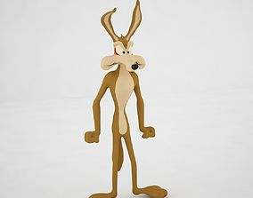 Wile E Coyote 3D model realtime
